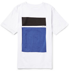 Saturdays Surf NYC Off Color Blocks Printed Cotton-Jersey T-Shirt