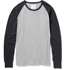 Saturdays Surf NYC Waffle-Knit Cotton-Jersey Raglan-Sleeve T-Shirt