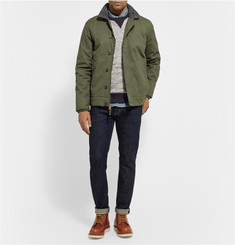 Saturdays Surf NYC Bouclé-Trimmed Coated Cotton-Canvas Jacket