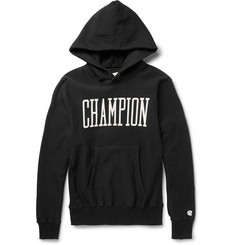 Todd Snyder Champion Printed Fleece-Back Cotton Hoodie