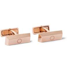 Montblanc - Iconic Red Gold-Tone Stainless Steel Cufflinks