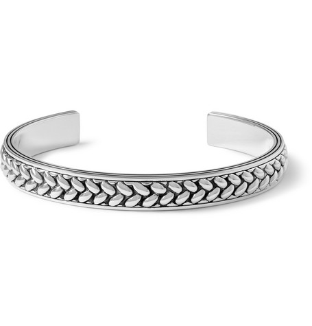 Montblanc Braided Sterling Silver Cuff