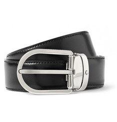 Montblanc Black 3 cm Leather Belt
