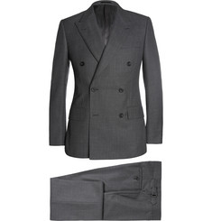 Kingsman Grey Double-Breasted Birdseye Wool Suit