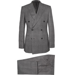 Kingsman Grey Double-Breasted Glen Check Suit