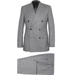 Kingsman Grey Double-Breasted Prince of Wales Check Suit