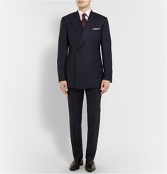 Kingsman Navy Double-Breasted Super 120s Wool Suit