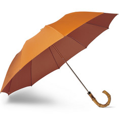 London Undercover Bamboo-Handle Collapsible Umbrella