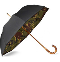 London Undercover Maple Handle Camouflage-Lined Umbrella
