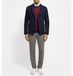 Gant Rugger Two-Tone Cotton-Blend Jacquard Sweater
