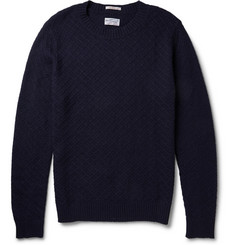 Gant Rugger Diamond-Jacquard Crew Neck Sweater