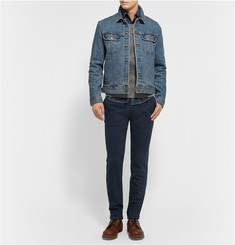 Gant Rugger Slim-Fit Brushed-Cotton Trousers