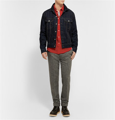 Gant Rugger Button-Down Collar Slubbed Cotton-Flannel Shirt