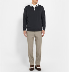 Peter Millar Perth Stretch-Jersey Zip-Neck Sweater