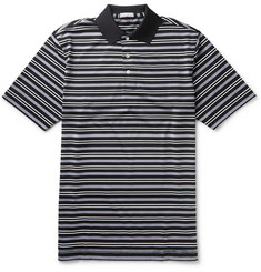 Peter Millar Ashe Variegated-Stripe Stretch-Jersey Golf Polo Shirt
