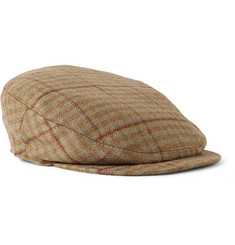 Musto Shooting Checked Wool-Blend Tweed Flat Cap