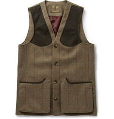 Musto Shooting Checked Tweed Stretch-Wool Gilet
