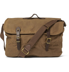 J.Crew - Abingdon Waxed Cotton-Canvas and Leather Messenger Bag
