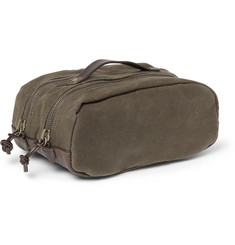 J.Crew - Abingdon Waxed-Canvas and Leather Wash Bag