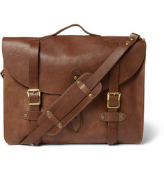 J.Crew Montague Distressed-Leather Satchel