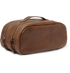 J.Crew Montague Full-Grain Leather Wash Bag