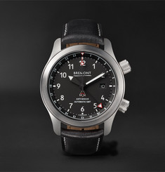 Bremont - MBIII/BZS Automatic 43mm Stainless Steel and Leather Watch