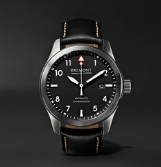 Bremont SOLO/WH Automatic 43mm Stainless Steel and Leather Watch