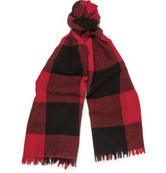 J.Crew Lofty Plaid Cashmere Scarf