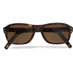 Kingsman Cutler and Gross Tortoiseshell Acetate Square-Frame Sunglasses