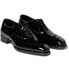 Kingsman George Cleverley Patent-Leather Oxford Shoes