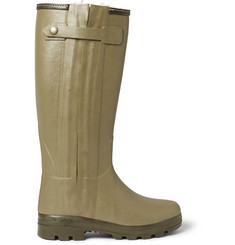 Le Chameau Chasseur Shearling-Lined Wellington Boots