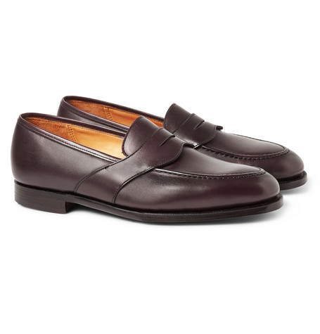 George Cleverley Bradley Burnished-Leather Penny Loafers
