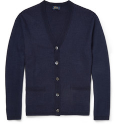 Polo Ralph Lauren Waffle-Knit Linen and Cashmere-Blend Cardigan