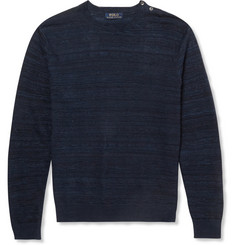 Polo Ralph Lauren Textured Linen and Cotton-Blend Sweater