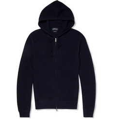 Polo Ralph Lauren Waffle-Knit Cashmere Hooded Sweater