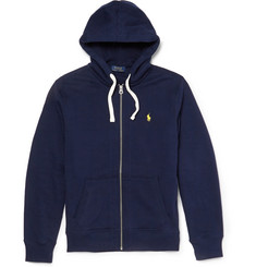 Polo Ralph Lauren Fleece-Back Cotton-Blend Jersey Sweater
