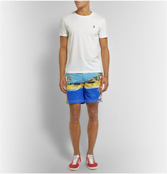 Polo Ralph Lauren Mid-Length Printed Cotton Swim Shorts