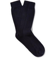 NN.07 Ribbed Wool-Blend Socks