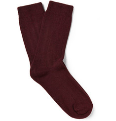 NN.07 Knitted Wool-Blend Socks
