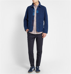 NN.07 Twin Slim-Fit Striped Cotton-Chambray Oxford Shirt