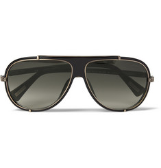 Lanvin Metal and Acetate Aviator Sunglasses