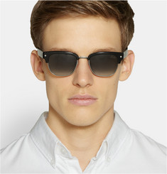 Lanvin Square-Frame Acetate and Metal Sunglasses
