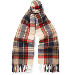 Begg & Co Niven Vale Wool and Cashmere-Blend Scarf