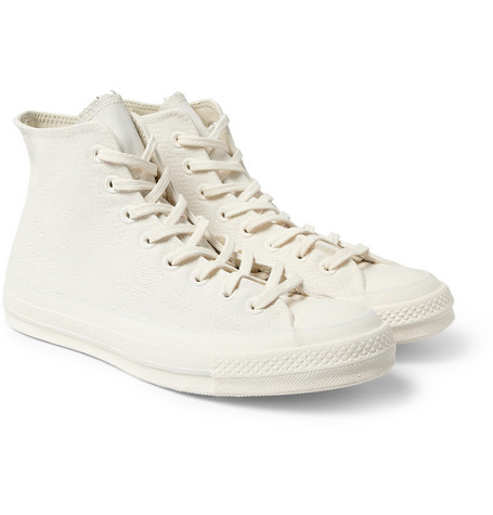 Converse Orange Maison Martin Margiela Chuck Taylor Leather High Top Sneakers