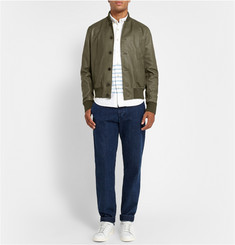 Officine Generale Leather Bomber Jacket