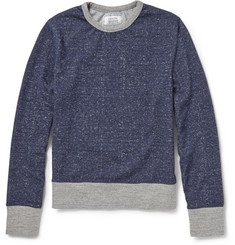 Officine Generale Mélange-Knit Cotton Sweatshirt