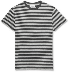 Officine Generale Striped Cotton and Silk-Blend T-Shirt