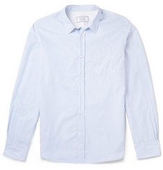 Officine Generale Slim-Fit Striped Cotton-Poplin Shirt