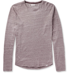 Orlebar Brown Perry Mélange-Knit Cotton T-Shirt