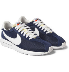 Nike Fragment TZ Roshe Run Mesh and Suede Sneakers